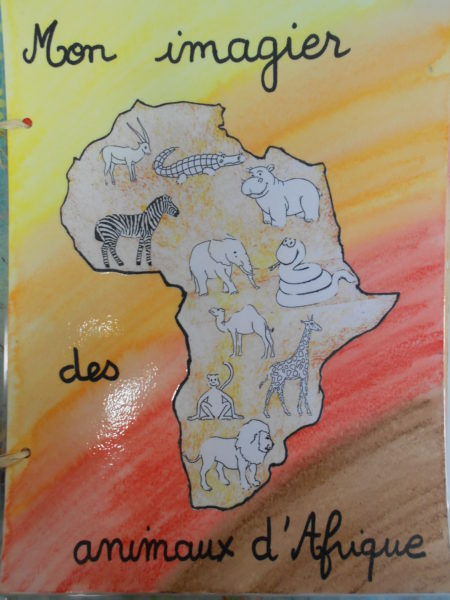 Réalisation d'un imagier des animaux d'Afrique